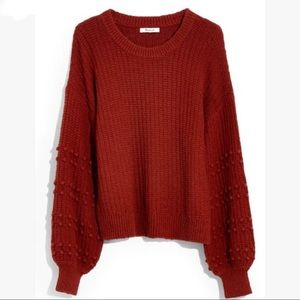 MADEWELL Bobble Sweater In Burnished Mahogany